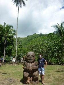 Heiata and Ryan at the Arahurahu Marae